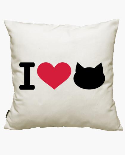 Housse de coussin j'aime les chats