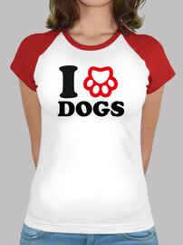 J'aime les chiens avec une empreinte