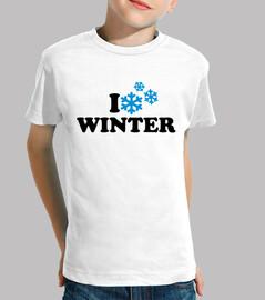 j'aime les flocons de neige d'hiver