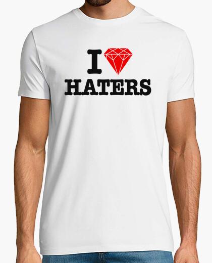 Tee-shirt J'aime les haineux - Diamant