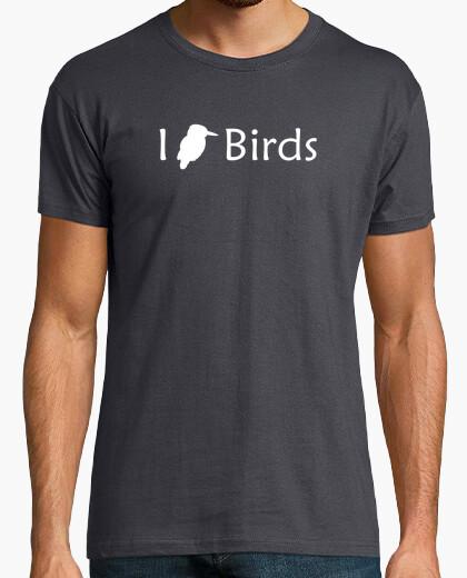 Tee-shirt j'aime les oiseaux (blanc - homme)