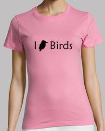 j'aime les oiseaux (noir - femme)