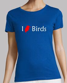 j'aime les oiseaux (rouge - femme)