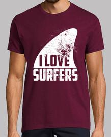 j'aime les surfeurs - blanc