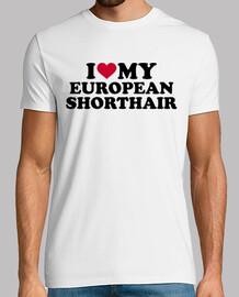 j'aime mon chat européen shorthair