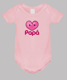 j'aime mon papa rose