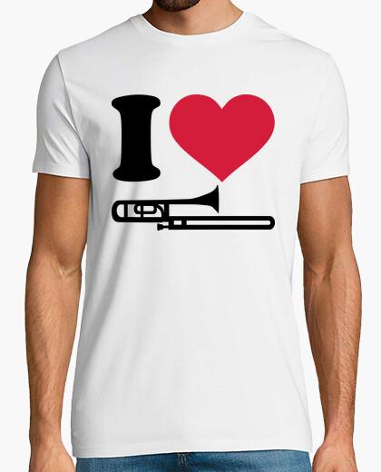 Tee-shirt j'aime trombone