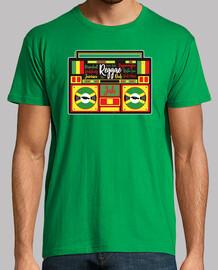 Jamaica reggae boombox vintage retro tape vinyl roots rasta