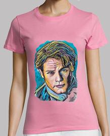 Jamie Fraser en azul, camiseta