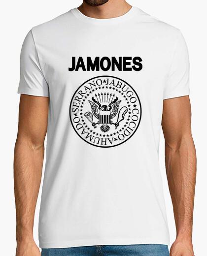 Camiseta JAMONES negro