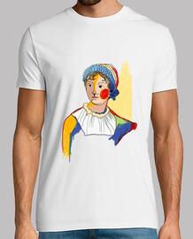 Jane Austen by Aitana Perez / Hombre, manga corta, blanco, calidad extra