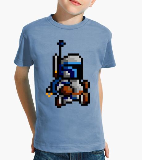 Ropa infantil Jango Fett 8 Bits (Camiseta Niño)