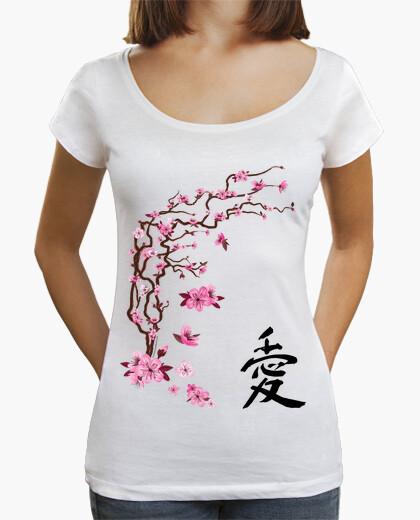 Japanese cherry - calligraphy t-shirt