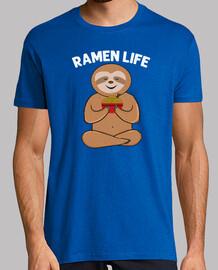 japanisches nahrung t-shirt des niedlichen faultierramen