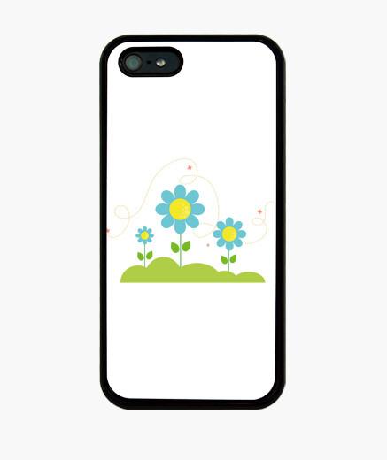 Funda iPhone jardín azul