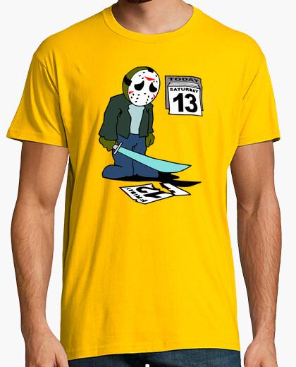 Tee-shirt Jason Voorhees - la Désillusion est le Samedi 13, pas Vendredi 13