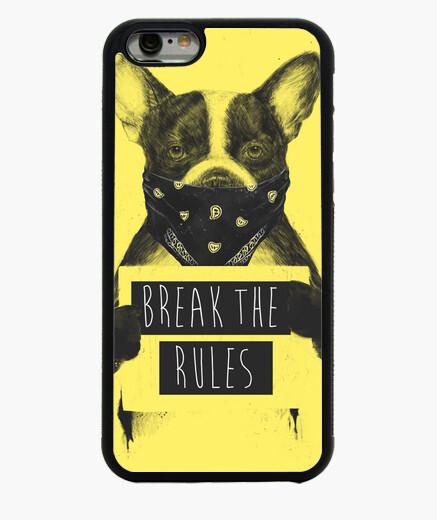 Coque Iphone 6 / 6S jaune rebelle chien