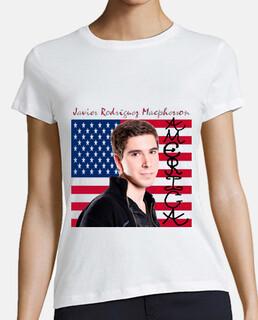 Javier Rodríguez Macpherson - Camiseta para mujer (Portada del álbum America) 01