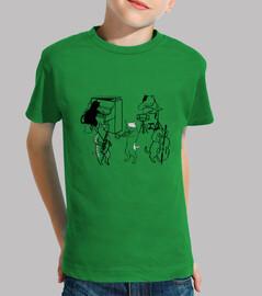 (JAZZ CATS) Niño, manga corta, verde