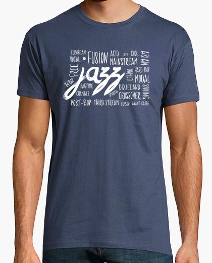Jazz genres t-shirt