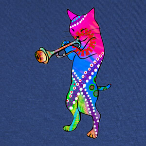 Camisetas Jazz Kitty Cat