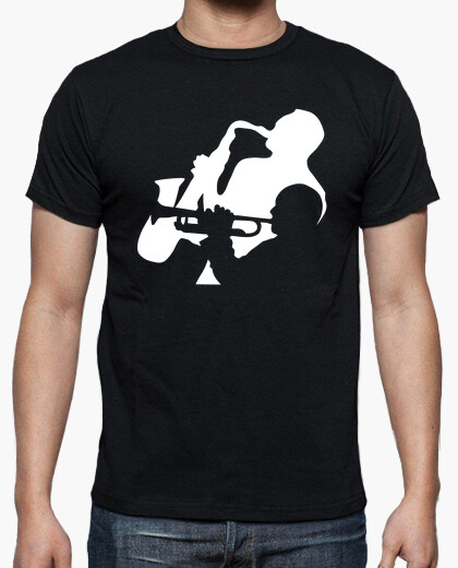 Jazz trumpet and saxophone musicians t-shirt