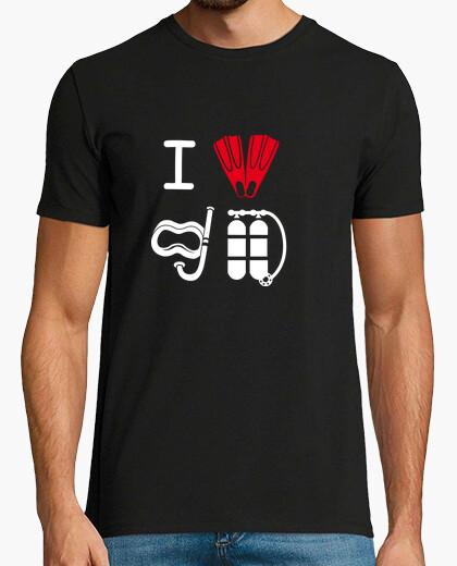 Tee-shirt je aime la plongée