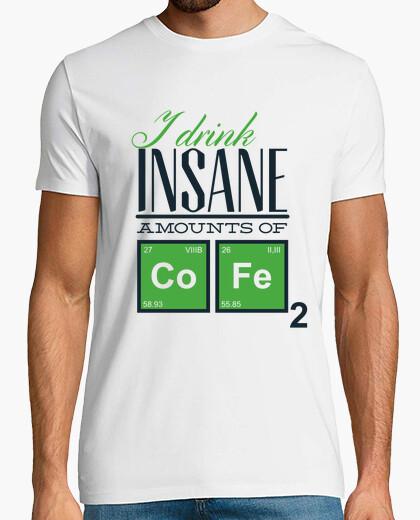 Tee-shirt je bois des quantités insensées de co-f