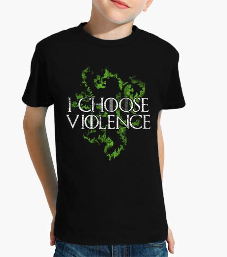 Vêtements enfant je choisis la violence