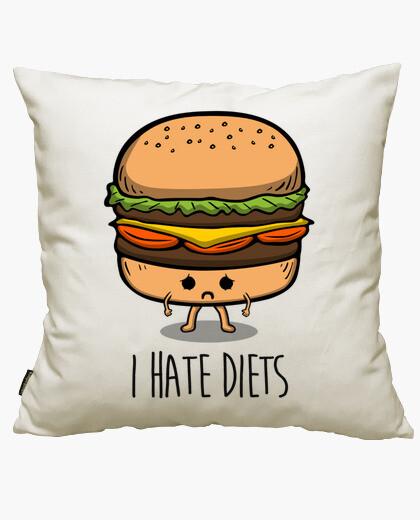 Housse de coussin je déteste les régimes