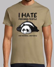 je déteste les people matin