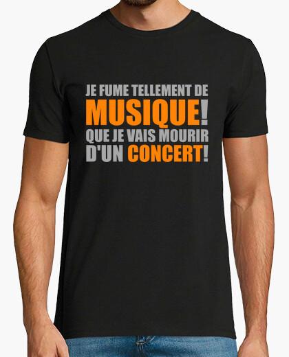 Tee-shirt je fume tellement de musique!