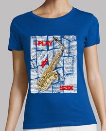 je joue au sax alto