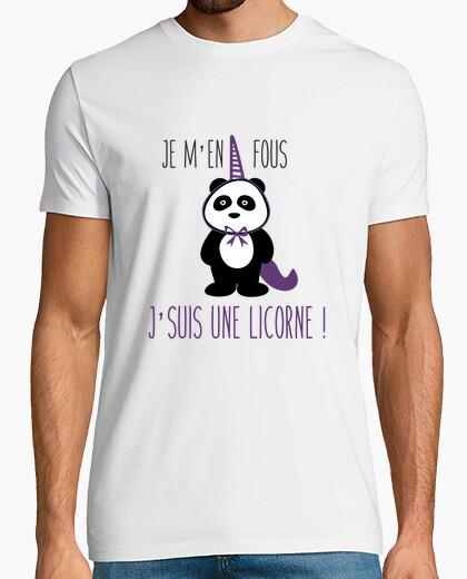 Tee-shirt Je m'en fous j'suis une licorne