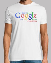 Je n'ai pas besoin de Google ma femme sait tout.