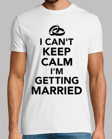 je ne peux pas garder im calme se marier
