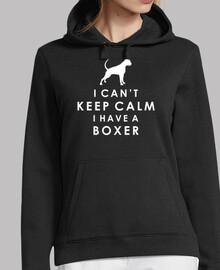 je ne peux pas keep calm je ai un boxer -  femme  capuche