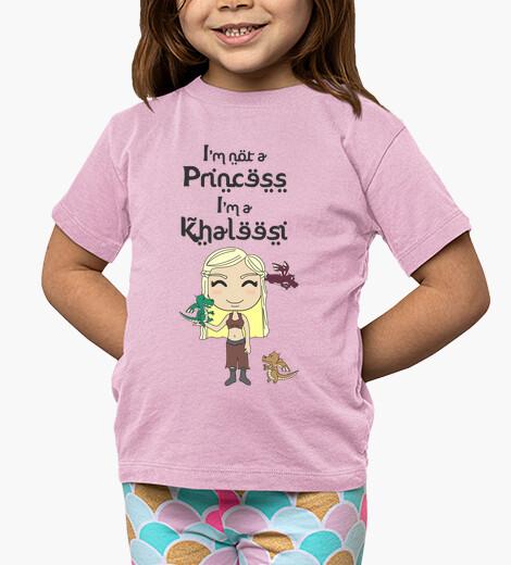 Vêtements enfant Je ne suis pas une princesse, je suis une Khaleesi
