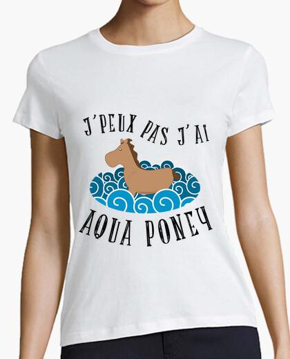 Tee-shirt je peux pas j'ai aqua poney