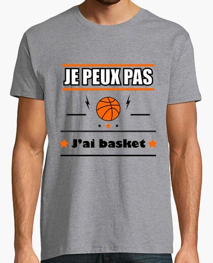 Tee-shirt Je peux pas j'ai basket