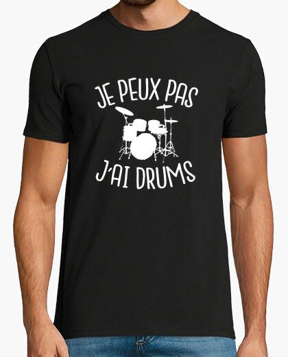 Tee-shirt je peux pas j'ai drums