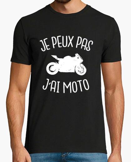 Tee-shirt je peux pas j'ai moto