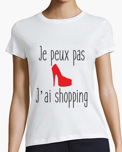 Tee-shirt Je peux pas j'ai shopping