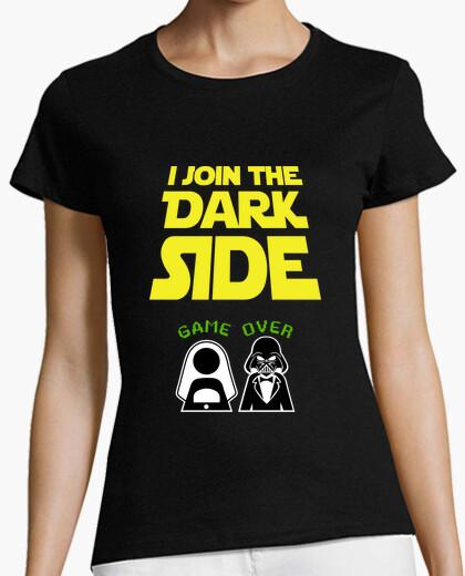 Tee-shirt je rejoins le côté obscur, enterrement de vie de garçon (petite amie)