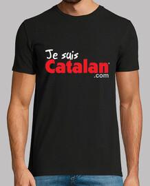 Je suis Catalan - Noir & Sang - Bord blanc