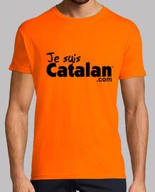 Je suis Catalan - Orange & noir- Bord noir