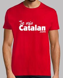 Je suis Catalan - Rouge & blanc - Bord blanc