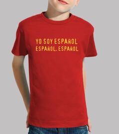 je suis espagnol, espagnol, espagnol enfant