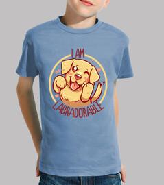 je suis labradorable - golden labrador - chemise enfant