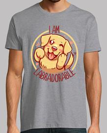 je suis labradorable - golden labrador - chemise homme
